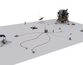 ALSEP and Lunar Module 3D asset