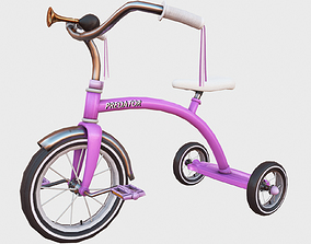 3D asset Tricycle