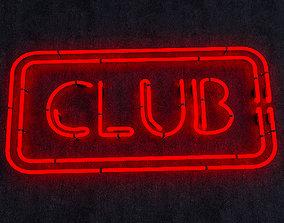 Club Neon Sign 3D model