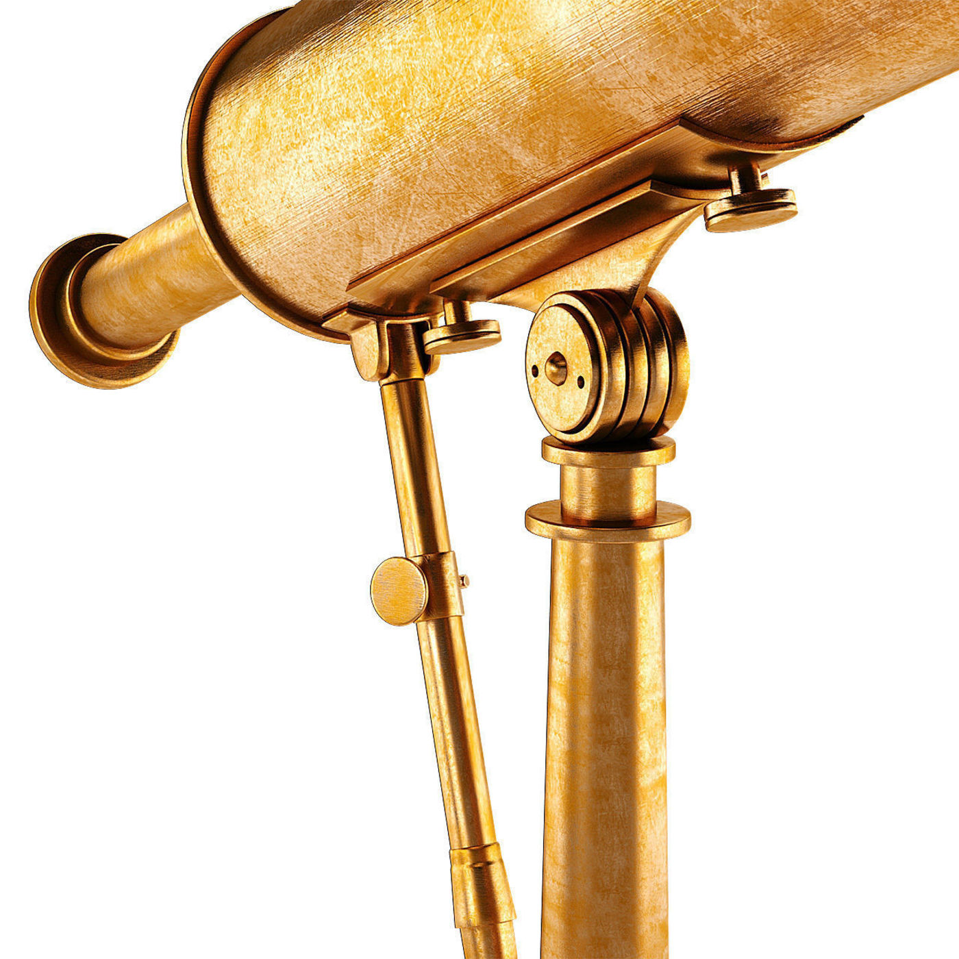 19th C Parisian Brass Telescope