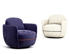 Wittmann Miles Lounge armchair 3D