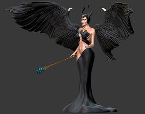maleficent Stylized Maleficent 3D print model