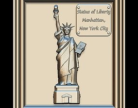 3D Liberty Statue Panno STL File for CNC Relief engraving