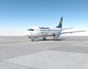 air 3D model B737-500 lufthansa with interior