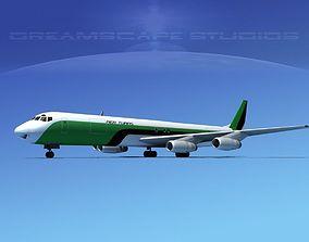 Douglas DC-8-63F Affretair 3D model