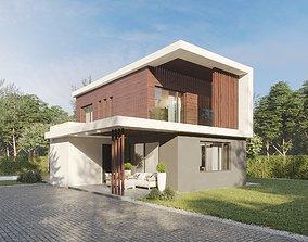 Modern house 02 3D asset