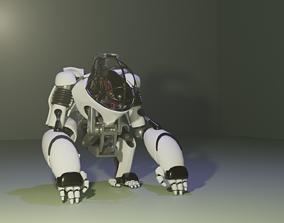 3D model Mech Gorilla Character
