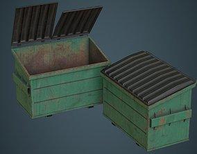 Dumpster 2B 3D asset