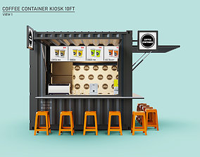Coffee Container Kiosk 10ft 3D