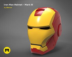 3D print model Ironman helmet - Mark III
