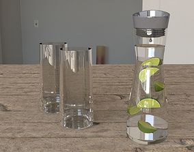 3D model Carafe with limes