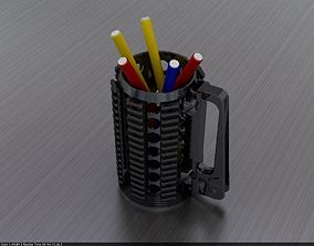Rifle pen holder cup 3D printable model