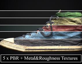 Converse style shoe footwear dirty x 5 colors 3D model