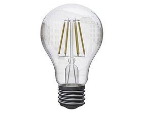 filament light bulb 3D model