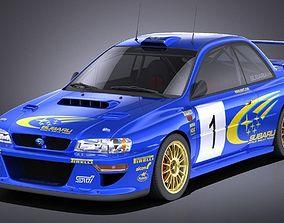 Subaru Impreza STI 22B WRC 1993-2000 VRAY 3D model