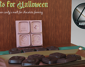 3D print model Halloween Candy mold for chocolate forming