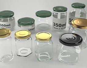 interior 3D model glass jars collection vol1