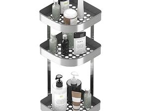 3D BROGRUND Corner wall shelf unit stainless steel by Ikea