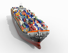 3D model Container ship 300m