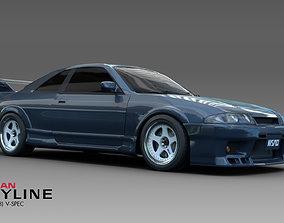 Nissan Skyline GT-R R33 V-Spec 3D asset
