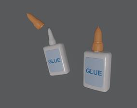 3D model rigged Glue in Bottle