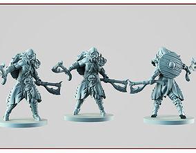 3D printable model Barbarian berserk