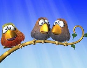 Cartoon Bird Rigged 3D model