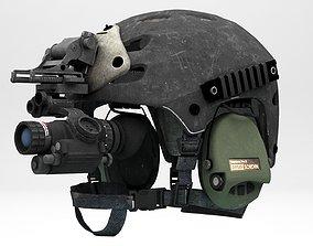 3D asset Helmet Protect Alpha Half Shell V2022 Lowpoly