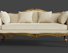 3D seat Baroque Classic Sofa