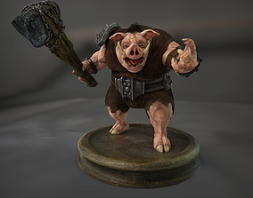 3D asset Boar Creature Npc