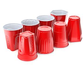 Plastic Cup Set 3D