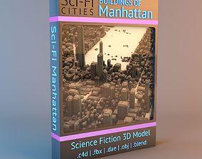 form Sci-Fi Manhattan Buildings 3D
