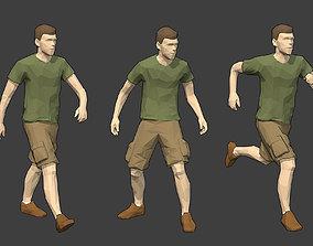 3D model Rigged Lowpoly Male Character - Luke