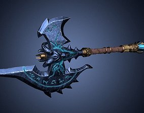3D asset Shadowmourne Axe Low-poly