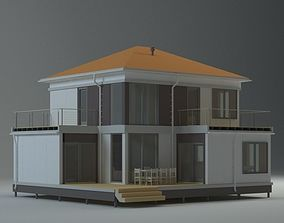 3D Private modern house