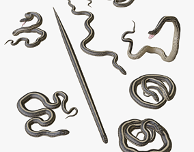 game-ready Garter Snake - 3D Mesh