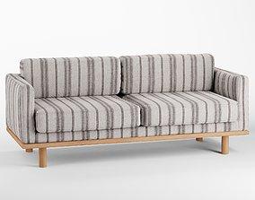 3D model Quinn Striped Sofa