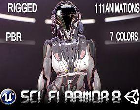 Sci-Fi Armor 8 3D asset