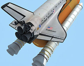 3D Endeavour Space Shuttle