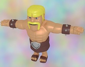 3D model Barbarian Clash of Clans