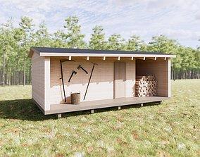 Log Cabin 3D model PBR