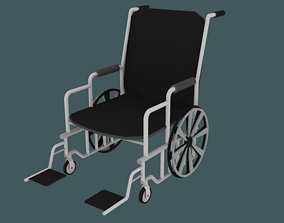 Low Poly Wheelchair 3D model