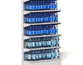 Market Shelf 3D Model - Water
