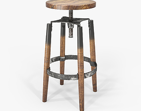 3D Industrial Bar Stool