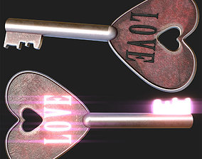 3D model Love Key Symbol - PBR Game-Ready