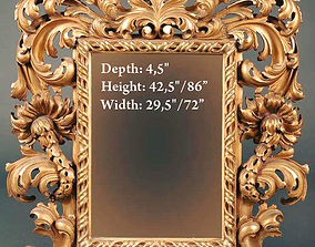 Mirror classical carved frame - set2 3D printable model