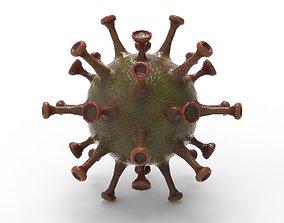 A set slimy virus 3D asset