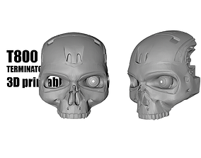 3D print model terminator T800 Terminator mask helmet