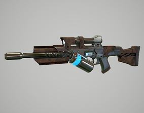 3D model Laser gun