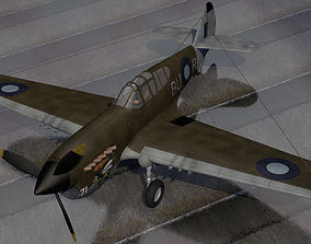 3D model Curtiss Kittyhawk - RAAF